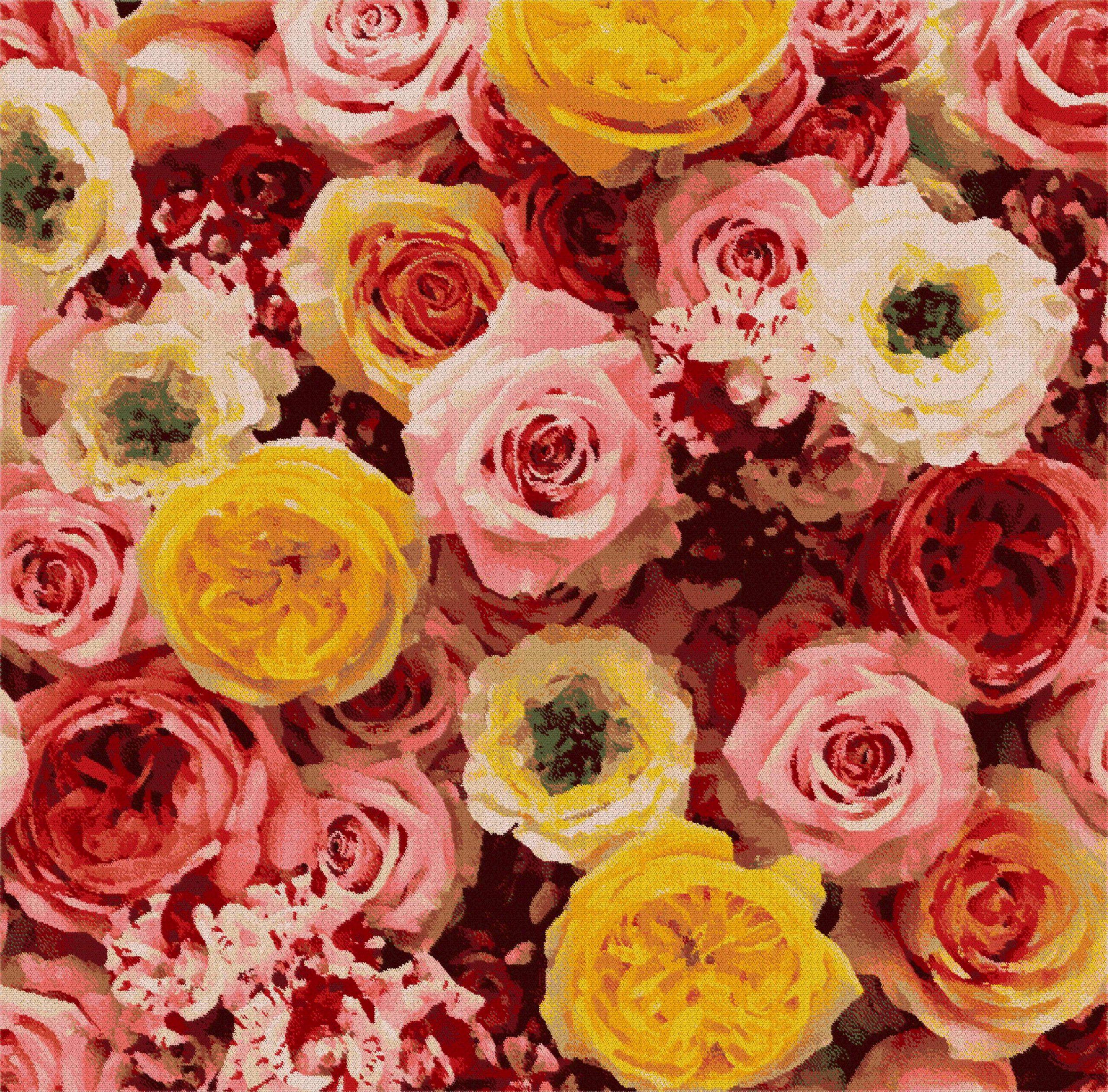 タオルハンカチ バラ